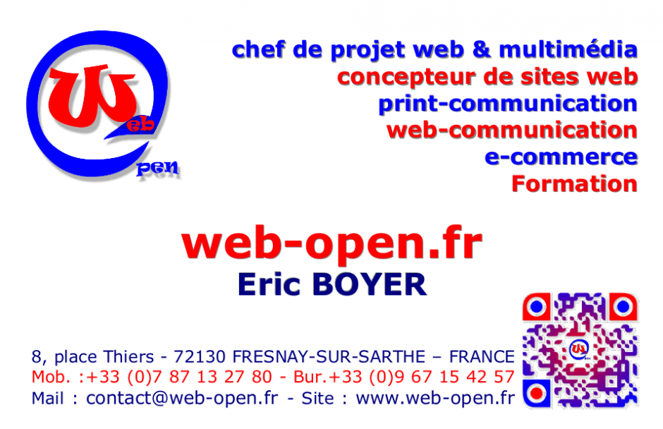 Imprime De Web Open Business Card