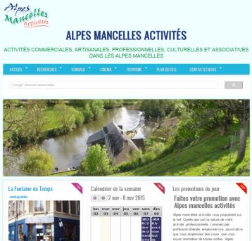 Alpes mancelles activités - Site réalisé par Web-open