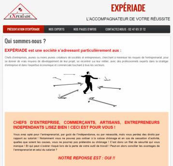 Expériade - Site réalisé par Web-open
