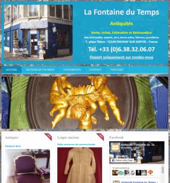 La Fontaine du Temps - Site réalisé par Web-open