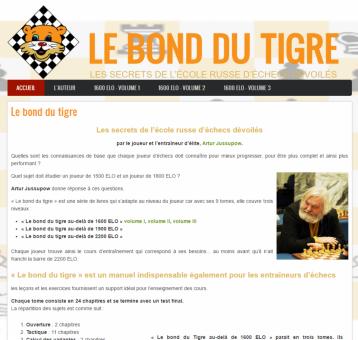 Le bond du tigre - Site réalisé par Web-open