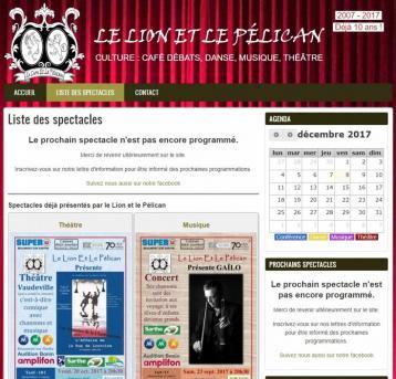 Le Lion et le Pélican - Site réalisé par Web-open