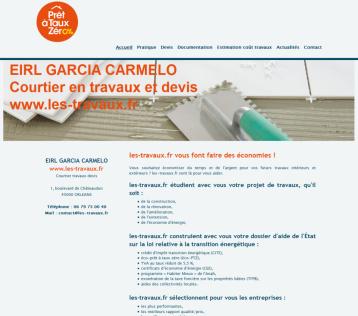 les-travaux.fr - Site réalisé par Web-open