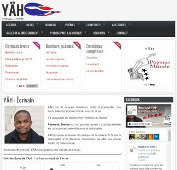 YÄH - Écrivain - Site réalisé par Web-open