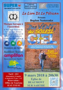 Imprimé de Web-open : Concert poster - Bogdan Nesterenko - Affiche