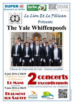 Imprimé de Web-open : Concert poster - The Yale Whiffenpoofs 2016 - Affiche