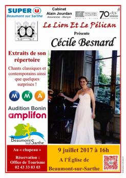Imprimé de Web-open : Show poster - Concert Cécile Besnard - Affiche