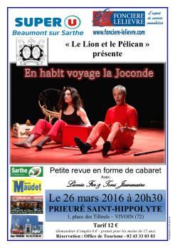 Imprimé de Web-open : Affiche de spectacle - En habit voyage la Joconde - Affiche