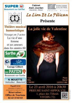 Imprimé de Web-open : Affiche de spectacle - La jolie vie de Valentine - Affiche