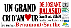Imprimé de Web-open : Grande banderole de spectacle - Un Grand Cri d'Amour - Banderole