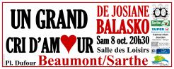 Imprimé de Web-open : Large show banner - Un Grand Cri d'Amour - Banderole