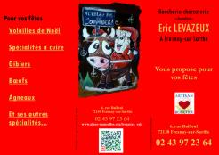 Imprimé de Web-open : Brochure - Eric LEVAZEUX - butchers - Dépliant, Prospectus