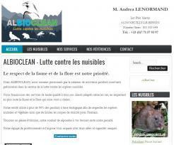 ALBIOCLEAN - Site réalisé par Web-open
