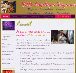 Angéliqua voyance - Site réalisé par Wen-open