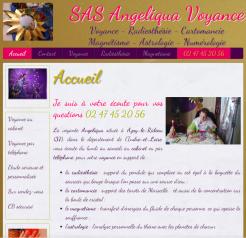 Angéliqua voyance - Site réalisé par Web-open