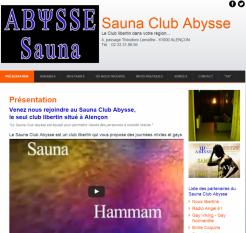Sauna Club Abysse - Site réalisé par Web-open