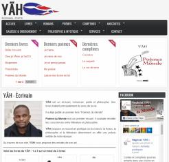 YÄH - Écrivain - Site réalisé par Wen-open