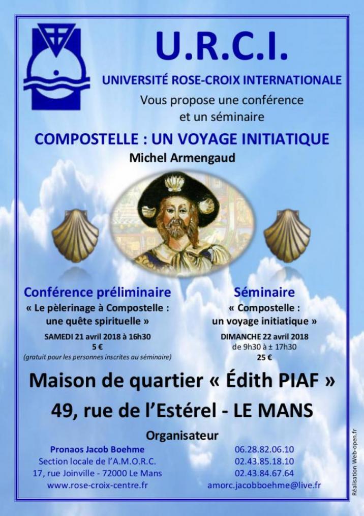 Imprimé de Web-open : Affiche d'un séminaire Saint-Jacques de Compostelle - Affiche