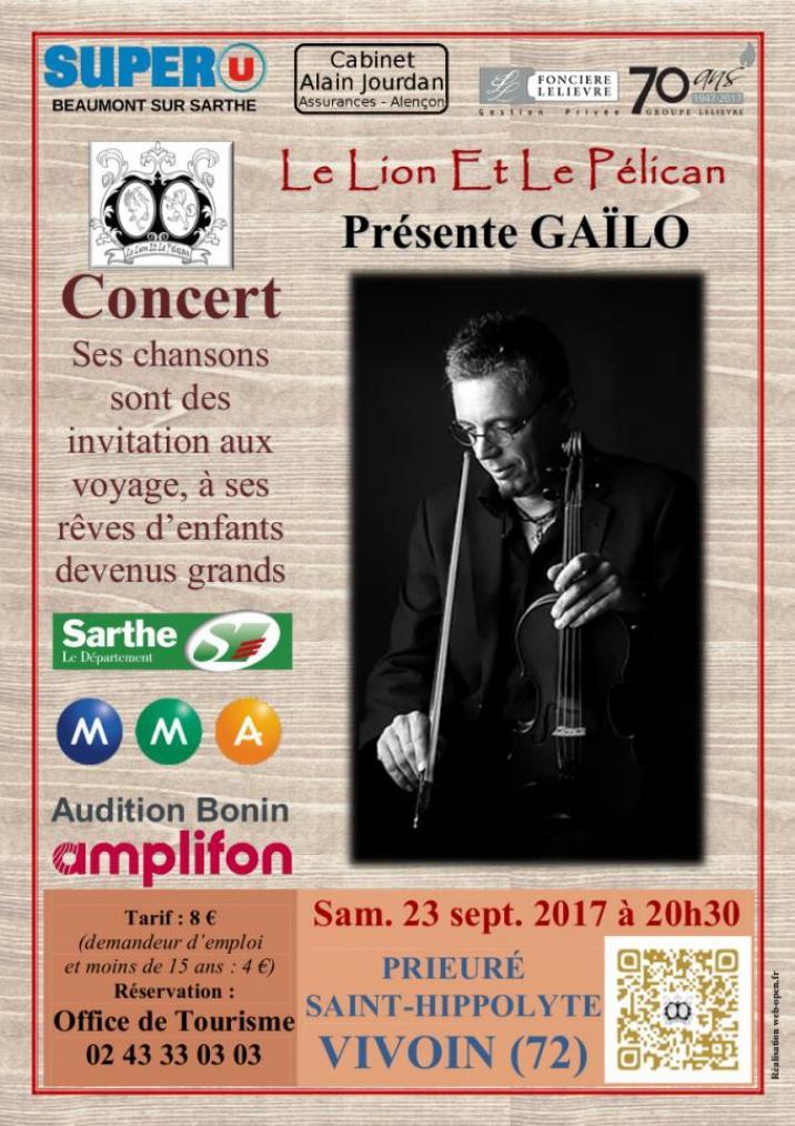 Imprimé de Web-open : Affiche de concert - Gaïlo - Affiche