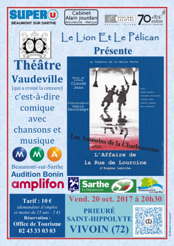 Imprimé de Web-open : Affiche de spectacle - L'Affaire de la Rue de Lourcine - Affiche