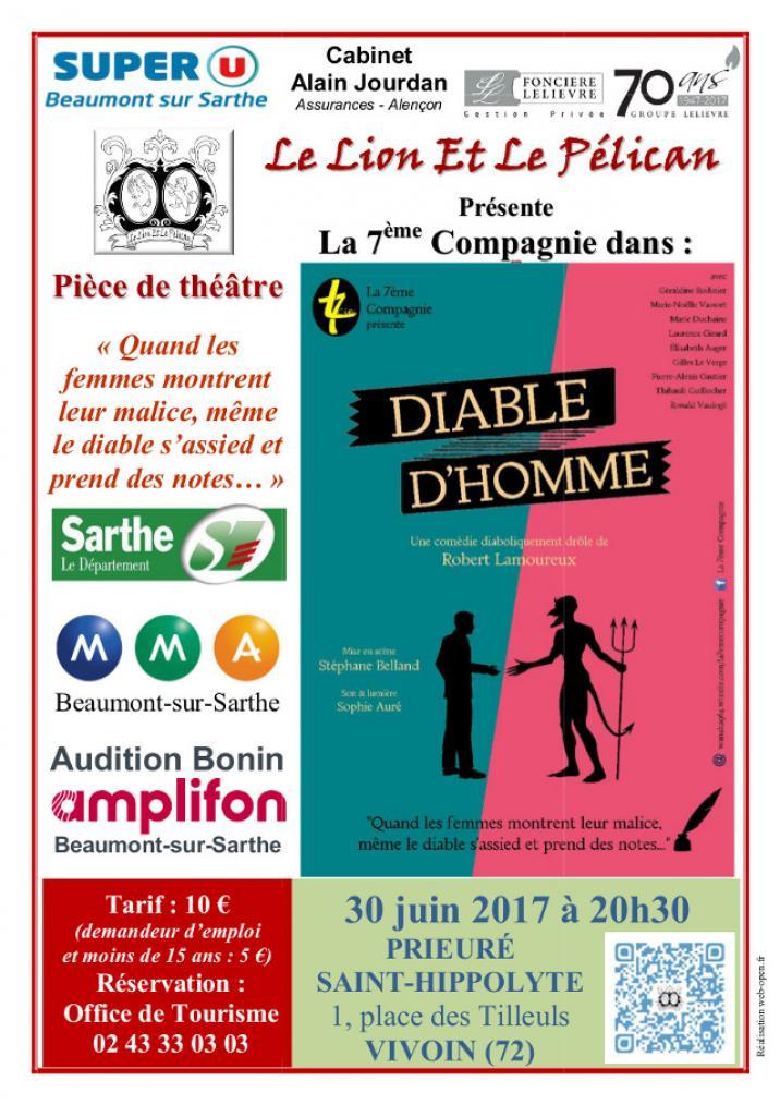 Imprimé de Web-open : Show poster - Diable d'homme - Affiche