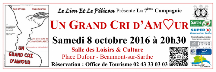 Imprimé de Web-open : Banderole de spectacle - Un Grand Cri d'Amour - Banderole