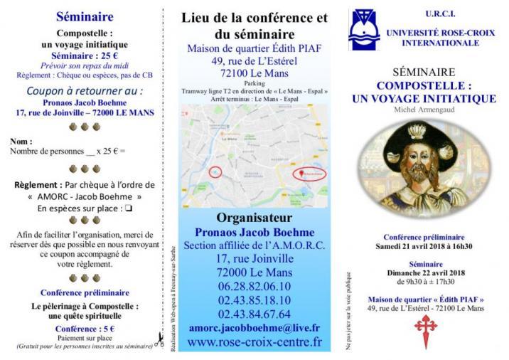 Imprimé de Web-open : Brochure - AMORC - Conférences et séminaire - Dépliant