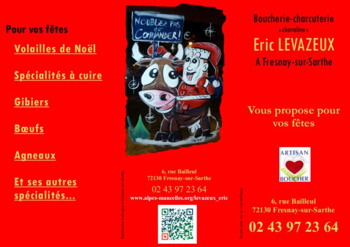 Imprimé de Web-open : Prospectus - Eric LEVAZEUX - boucherie-charcuterie - Dépliant, Prospectus