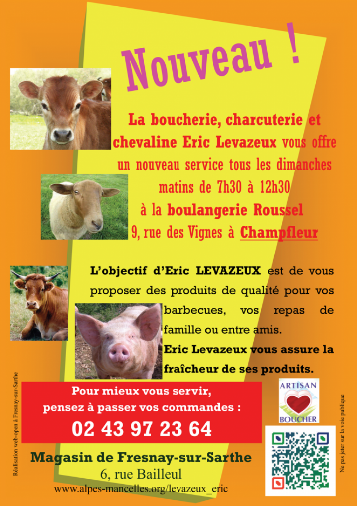 Imprimé de Web-open : Flyer - Eric LEVAZEUX for Sunday mornings in Champfleur - Prospectus