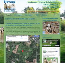 Du Domaine des Landes - Site réalisé par Web-open