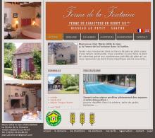 La Ferme de la Fontaine - Site réalisé par Web-open